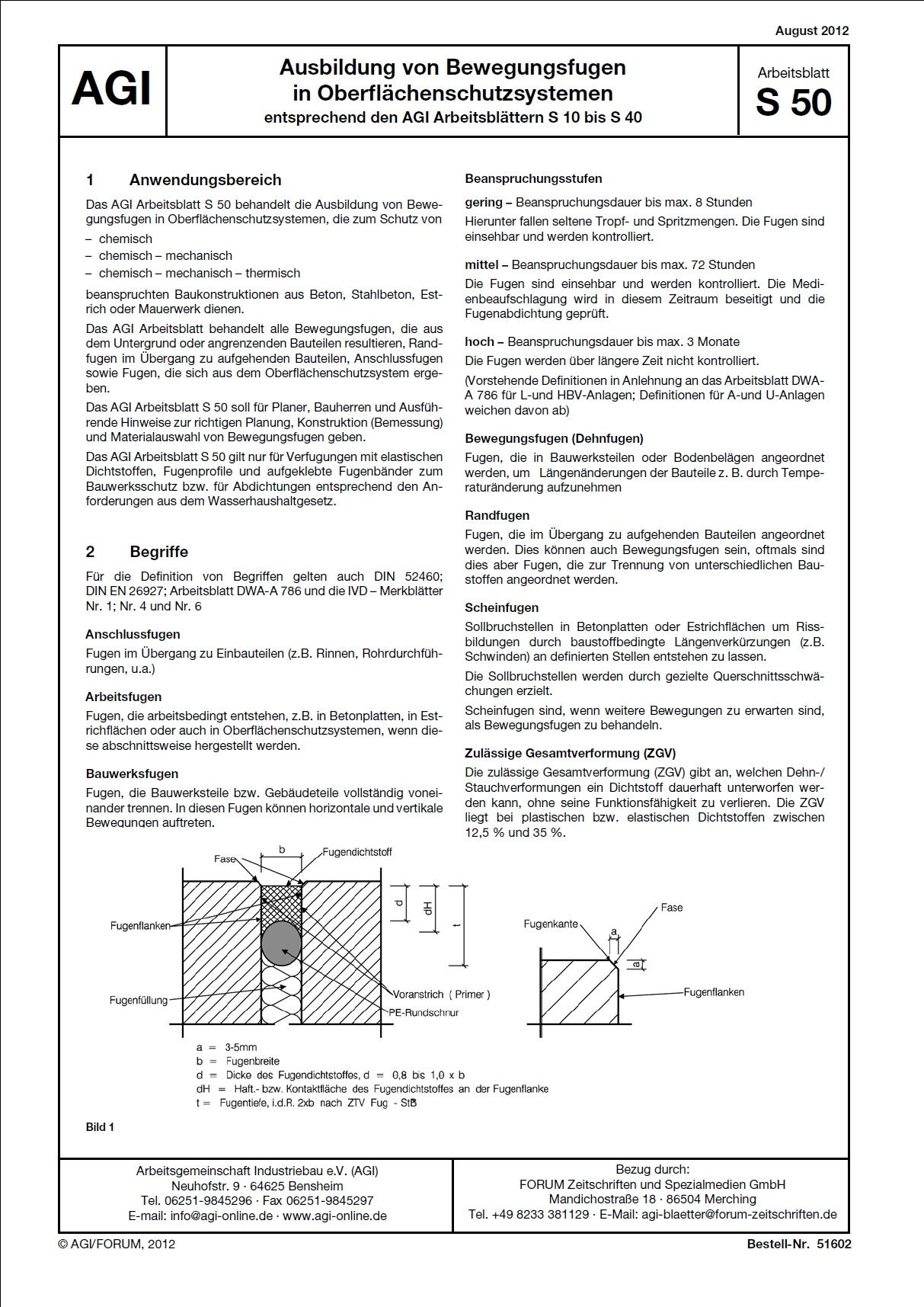 AGI-S50 Arbeitsblatt | Immobilien Fachliteratur